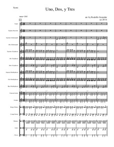 Uno, Dos Y Tres for Elementary Mariachi Orff Ensemble: Uno, Dos Y Tres for Elementary Mariachi Orff Ensemble by folklore