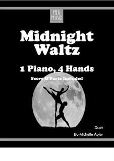 Midnight Waltz (Intermediate Piano Duet): Midnight Waltz (Intermediate Piano Duet) by MEA Music