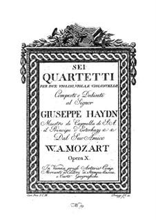 Streichquartett Nr.14 in G-Dur, K.387: Violinstimme I by Wolfgang Amadeus Mozart