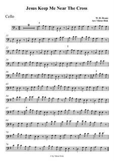 Jesus zieht zum Kreuze mich: Für Cello by William Howard Doane