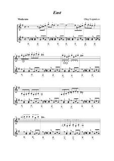 East (for two guitars), Op.6: East (for two guitars) by Oleg Kopenkov