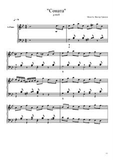 Соната G-moll для фортепиано: Соната G-moll для фортепиано by Viktor Gryaznov