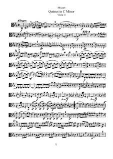 Streichquintett Nr.2 in c-Moll, K.406/516b: Bratschenstimme II by Wolfgang Amadeus Mozart