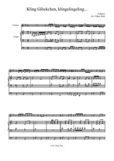 Kling Glöckchen klingelingeling: Für Klarinette und Orgel by folklore