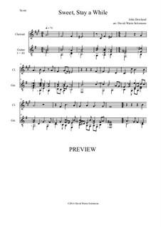 Sweet stay a while: Für Klarinette und Gitarre by John Dowland