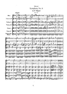 Sinfonie Nr.6 in F-Dur, K.43: Sinfonie Nr.6 in F-Dur by Wolfgang Amadeus Mozart