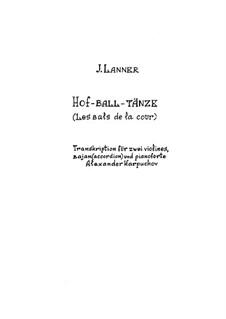 Hofballtänze, Op.161: Für Quartette by Josef Lanner