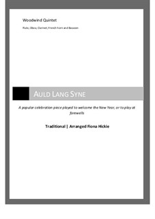 Auld Lang Syne: For wind quintet by folklore