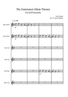 The Entertainer: For orff ensemble by Scott Joplin