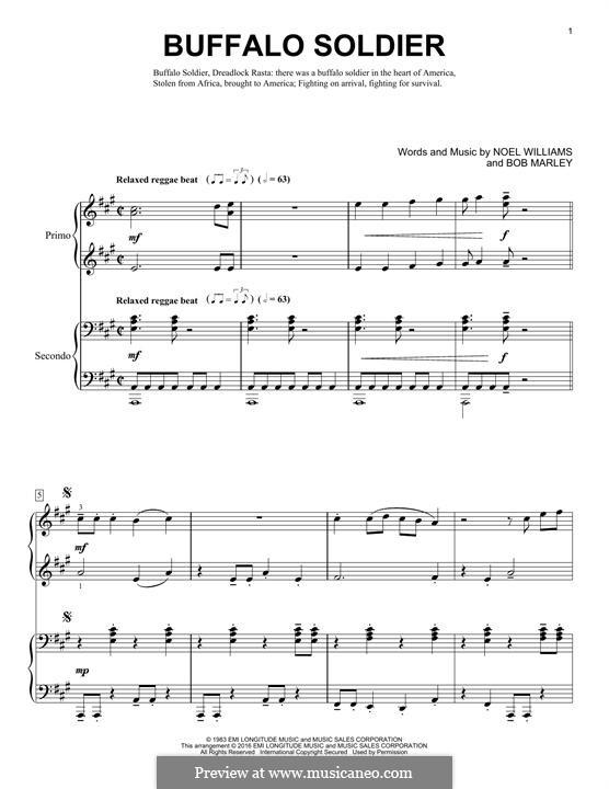 Buffalo Soldier (Bob Marley): Für Klavier by Noel Williams