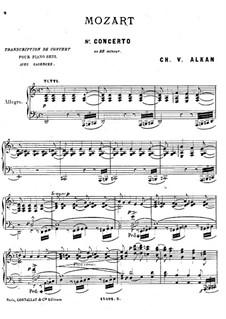 Konzert für Klavier und Orchester Nr.20 in d-Moll, K.466: Teil I. Bearbeitung für Klavier by Wolfgang Amadeus Mozart