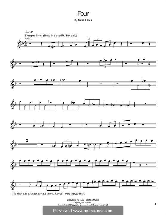 Four: Für Trompete by Miles Davis