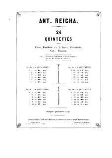 Holzbläserquintett in a-Moll, Op.100 No.5: Klarinettenstimme by Anton Reicha