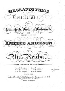 Sechs Klaviertrios, Op.101: Trio Nr.1 in Es-Dur by Anton Reicha