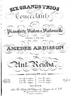 Sechs Klaviertrios, Op.101: Trio Nr.6 in A-Dur by Anton Reicha