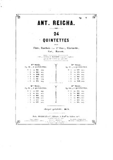 Holzbläserquintett in a-Moll, Op.91 No.2: Fagottstimme by Anton Reicha