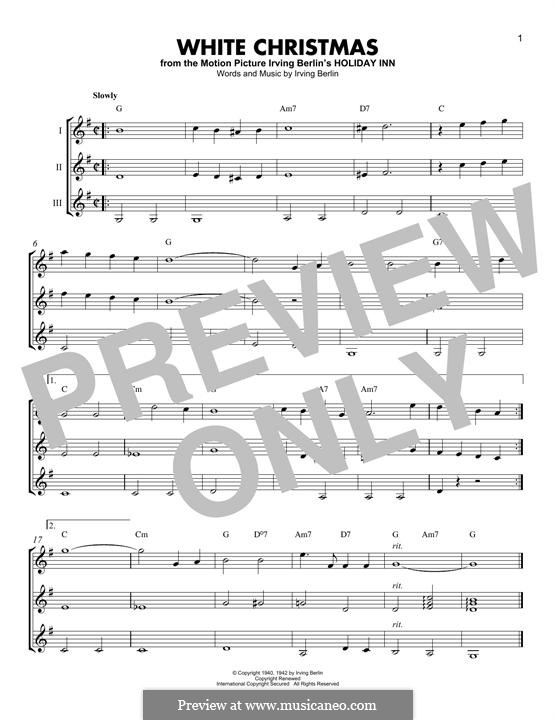 White Christmas. Instrumental version: For any instrument by Irving Berlin