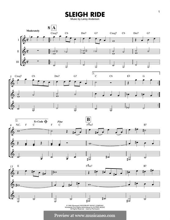 Sleigh Ride: For any instrument by Leroy Anderson