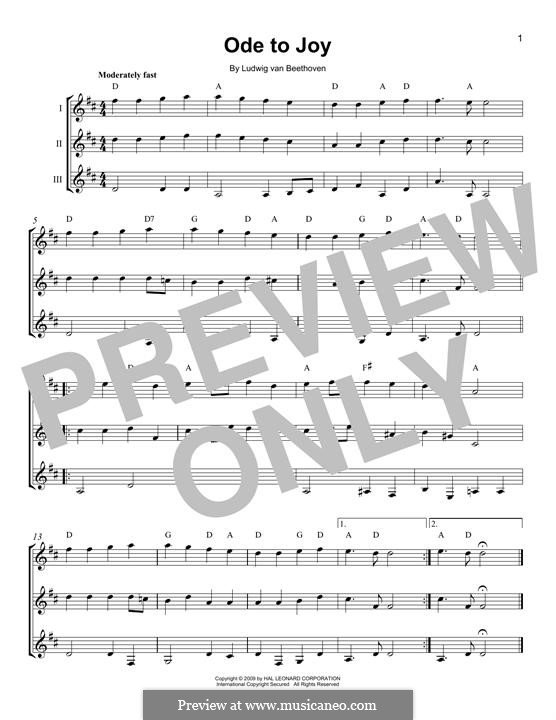 Ode an die Freude: Version for any instrument by Ludwig van Beethoven