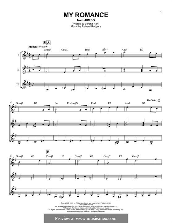 My Romance: For any instrument by Richard Rodgers