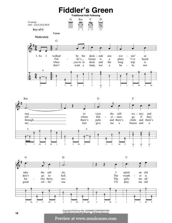 Fiddler's Green: For banjo by folklore