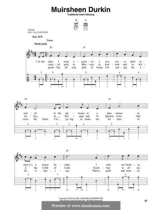 Muirsheen Durkin: For banjo by folklore