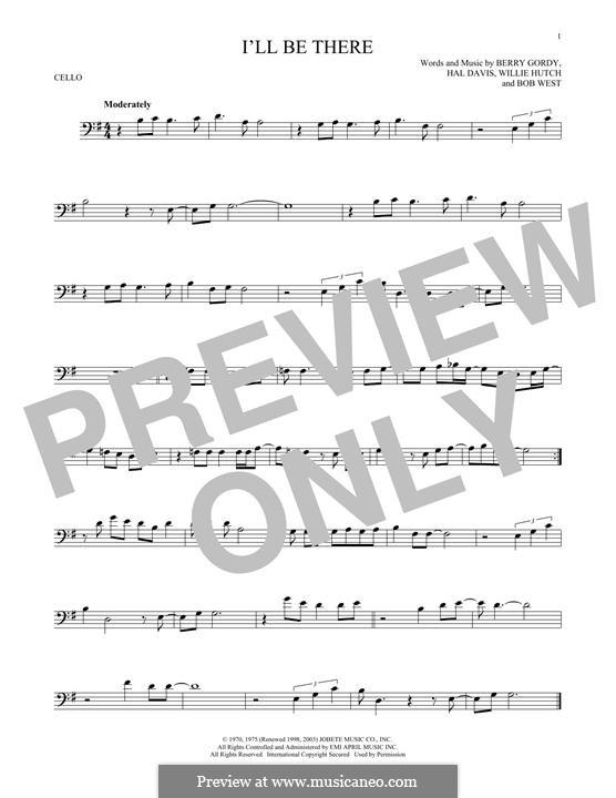 I'll Be There: Für Cello by Berry Gordy, Bob West, Hal Davis, Willie Hutch