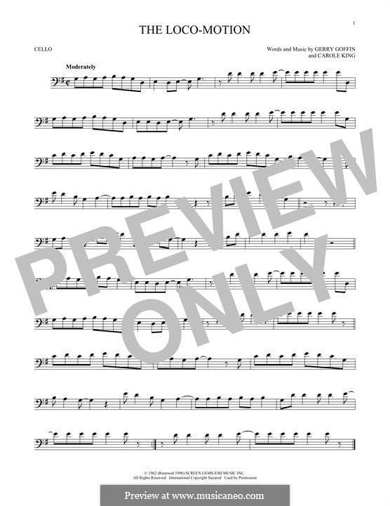 The Loco-Motion: Für Cello by Carole King, Gerry Goffin