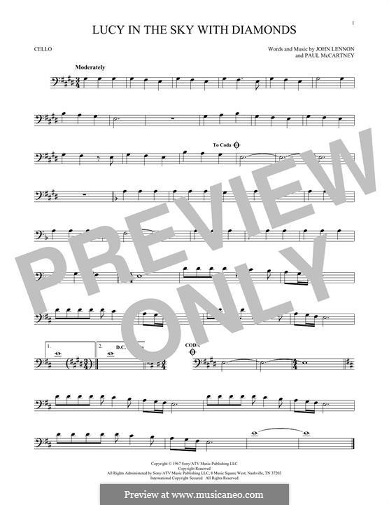 Lucy in the Sky with Diamonds (The Beatles): Für Cello by John Lennon, Paul McCartney