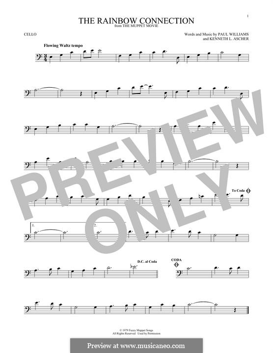 The Rainbow Connection (Kermit the Frog): Für Cello by Paul H. Williams, Kenneth L. Ascher