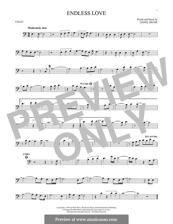 Endless Love: Für Cello by Lionel Richie