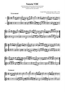 Sonata VIII, Op.66: Sonata VIII by Joseph Bodin de Boismortier