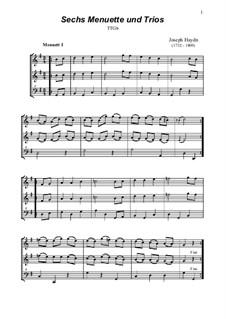 6 Menuette und Trios: 6 Menuette und Trios by Joseph Haydn