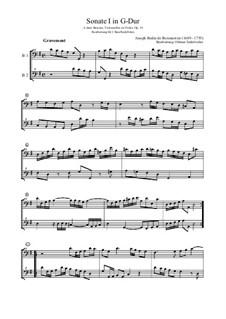 Sonate I in G-Dur, Op.14: Sonate I in G-Dur by Joseph Bodin de Boismortier