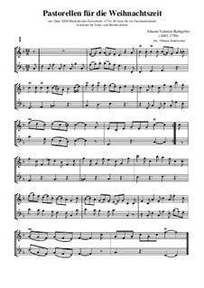 Acht Pastoralen für die Weihnachtszeit, Op.22: Für Tenor-Blockflöte und Bass-Blockflöte by Valentin Rathgeber