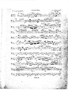 Klavierquartett Nr.5 in Es-Dur, Op.141: Cellostimme by Carl Gottlieb Reissiger