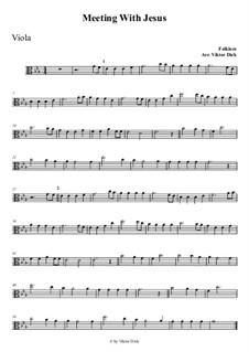 Wenn Jesus mich treffen würde: For viola by folklore