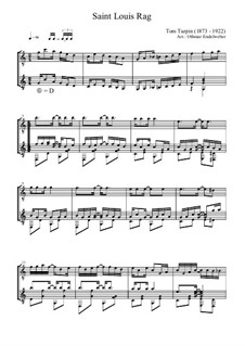 St. Louis Rag: Für zwei Gitarren by Tom Turpin