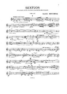 Sextett für Klavier und Blasinstrumente: Hornstimme by Amédée Reuchsel