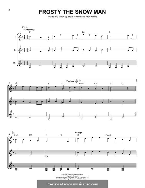 Frosty the Snow Man: For any instrument by Jack Rollins, Steve Nelson