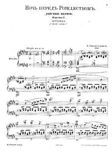 Die Nacht vor dem Christfeste. Oper: Akt I, Szene I by Nikolai Rimsky-Korsakov