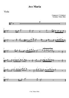 Ave Maria, D.839 Op.52 No.6: For viola by Franz Schubert
