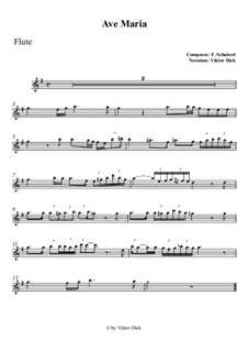 Ave Maria, D.839 Op.52 No.6: Für Flöte by Franz Schubert