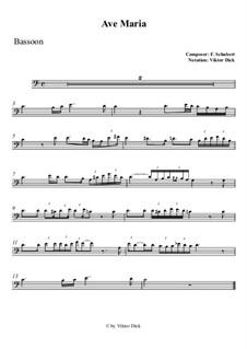 Ave Maria, D.839 Op.52 No.6: Für Fagott by Franz Schubert