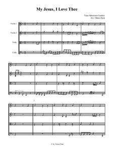 My Jesus, I Love Thee: Für Streichquartett by Adoniram Judson Gordon