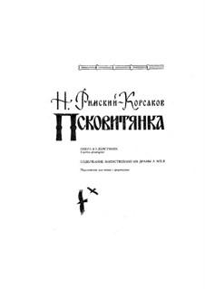 Das Mädchen von Pskow: Ouvertüre, für Klavier by Nikolai Rimsky-Korsakov