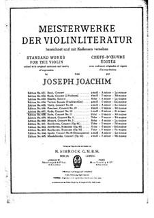 Violinkonzert Nr.10 in h-Moll, Op.19: Für Violine und Klavier by Pierre Rode