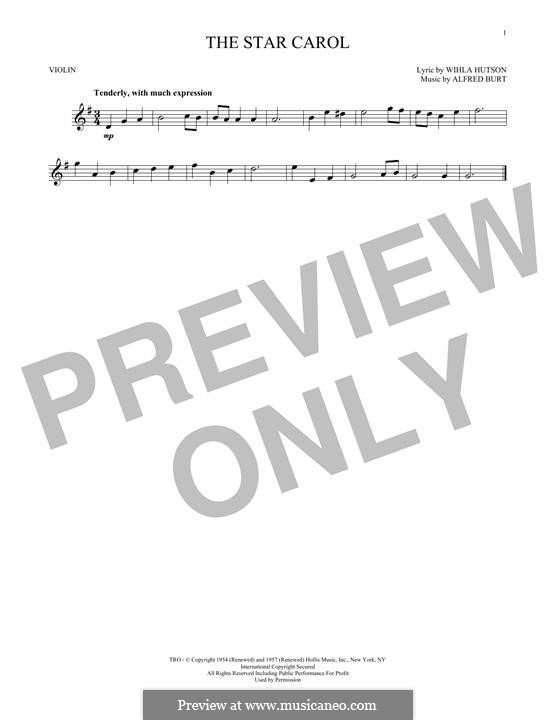 The Star Carol: Für Violine by Alfred Burt
