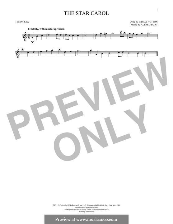 The Star Carol: Für Tenorsaxophon by Alfred Burt