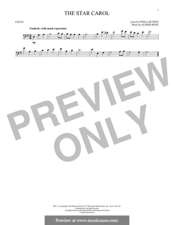 The Star Carol: Für Cello by Alfred Burt